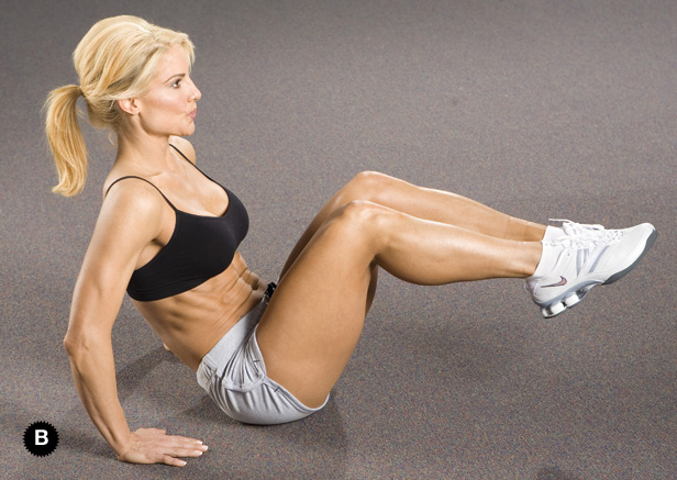 Image result for knee to chest ab exercise